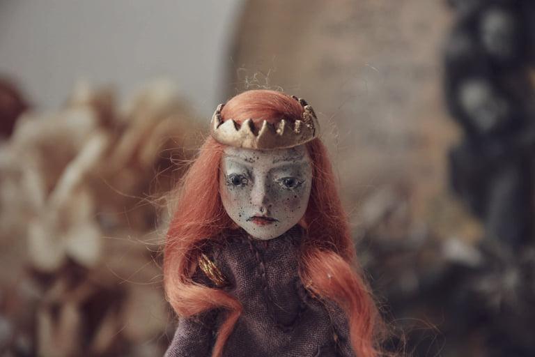 Datail of my  Lady Macbeth art doll