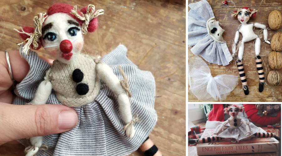 My recent clown puppet doll