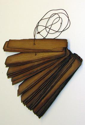 Buch aus Palmblättern