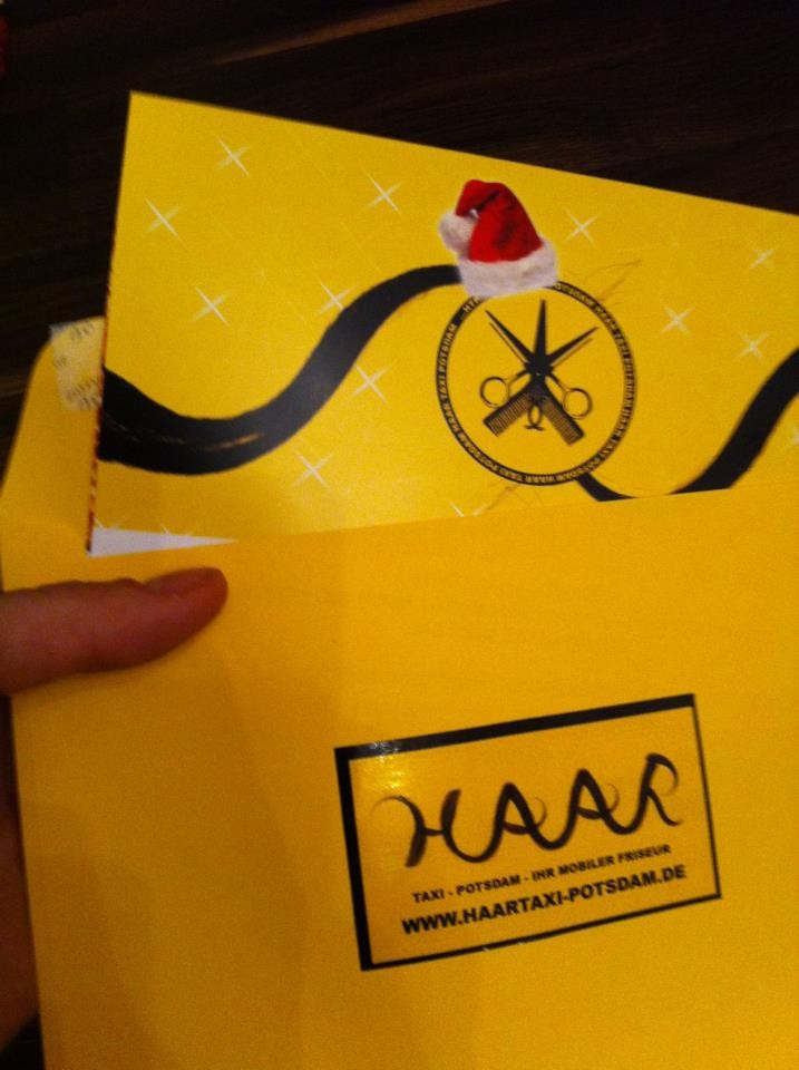 Winterzauber-Gutschein mit gelben Umschlag