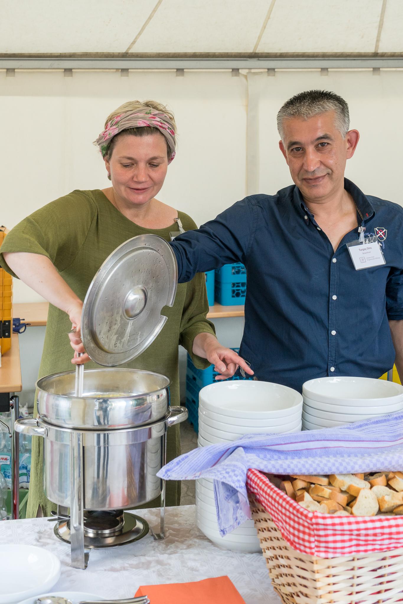 Nach der Feier: Kartoffelsuppe, lecker gekocht und abgeschmeckt von Pro Beruf.