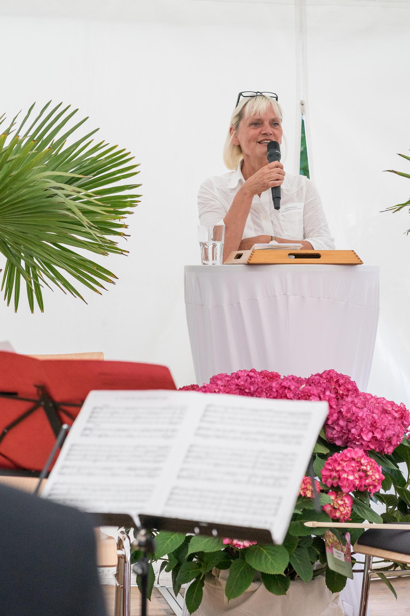Cornelia Kupsch, Bezirksbürgermeisterin Mitte, gewohnt locker und humorvoll.