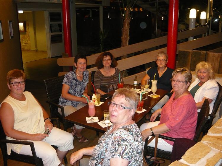 Am Abend hatten wir viel Spaß bei den Cocktails in der Hotelbar.