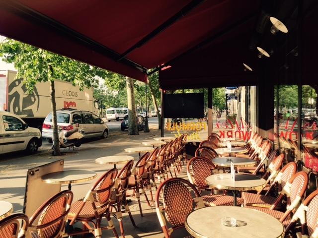 Terrasse du restaurant pour groupes le Café Gourmand Bastille Paris 4ème