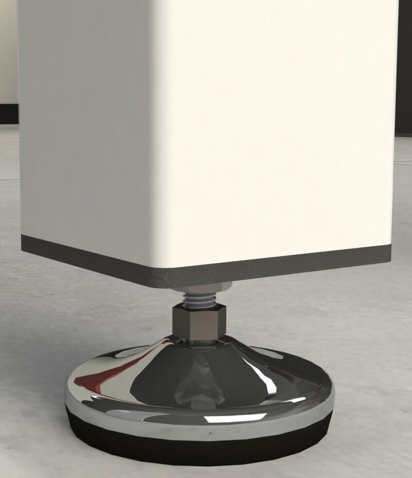 Pied de table carré Centya H 7 cm - embout plat