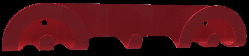 portemanteau mural design rouge pour porte
