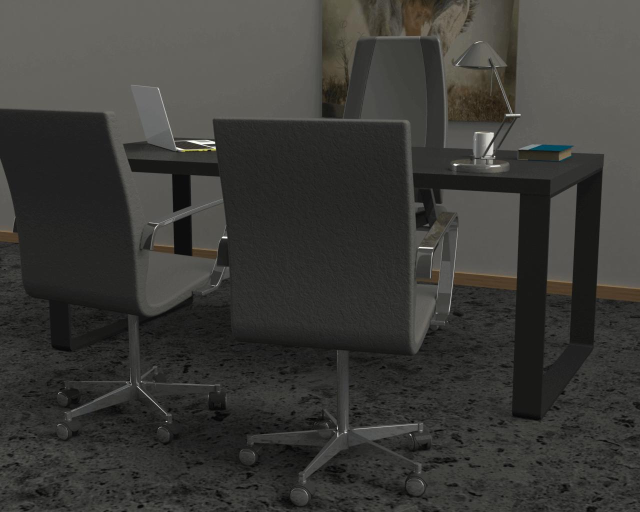 pied de table design en métal pour bureau