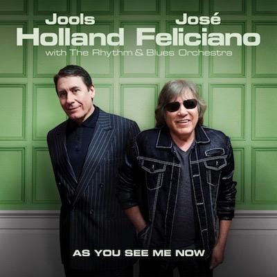 Jools Holland & José Feliciano vor grüner Wand