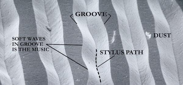Mikroskop-Foto einer Schallplatte mit LAST2 behandelt und 200 mal abgespielt | ©LAST Factory