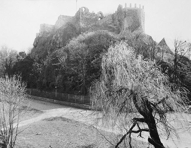 Burg Giebichenstein analoges Foto / Handabzug S/W | 1999 | Halle