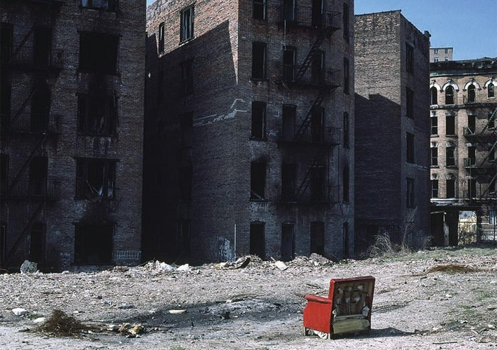 Burned out apartment buildings  in South Bronx | Pigmentdruck | 60x45 cm | 1983 | New York