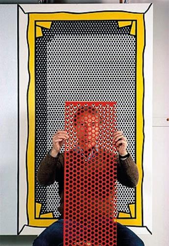 Roy Lichtenstein  hinter roter Schablone | Pigmentdruck | 60x90 cm | 1982 | New York