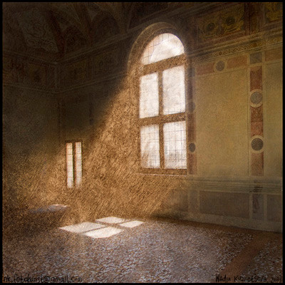 """Story # 7 from series """"Italien dust"""" , author's technology, 49x49 cm, 2014 Italy"""