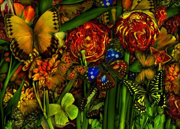 Antonius - Magic Garden-Jungle- Cabbage, 120x80cm