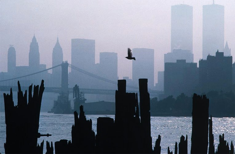 WTC as seen from Brooklyn | Pigmentdruck | 60x45 cm | 1983 | New York