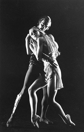 Tänzerpaar | analoges Foto / Handabzug S/W | 1990 | Dnjepropjetrowsk