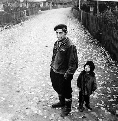 45,80x45,80cm, Village Street 2, Dzukija 1969