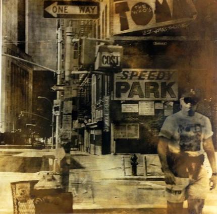 """Speedy Park"", Altotypie, Pigment und Gelantine auf Papier 100cmx100cm, 2013, Unikat"