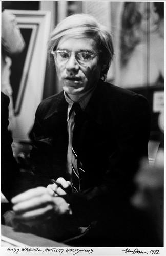 """""""Andy Warhol""""   silver gelantine print   30x40 cm   1972   Hollywood"""