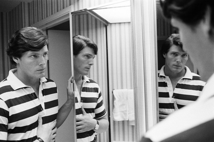 """Christopher Reeve""   silver gelantine print   30x40 cm   1978   Beverly Hills"