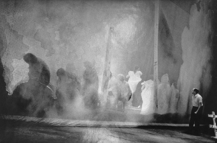 Regisseur auf Bühne | analoges Foto / Handabzug S/W | 1990 | Dnjepropjetrowsk