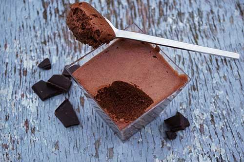 Mousse au chocolat et au thé