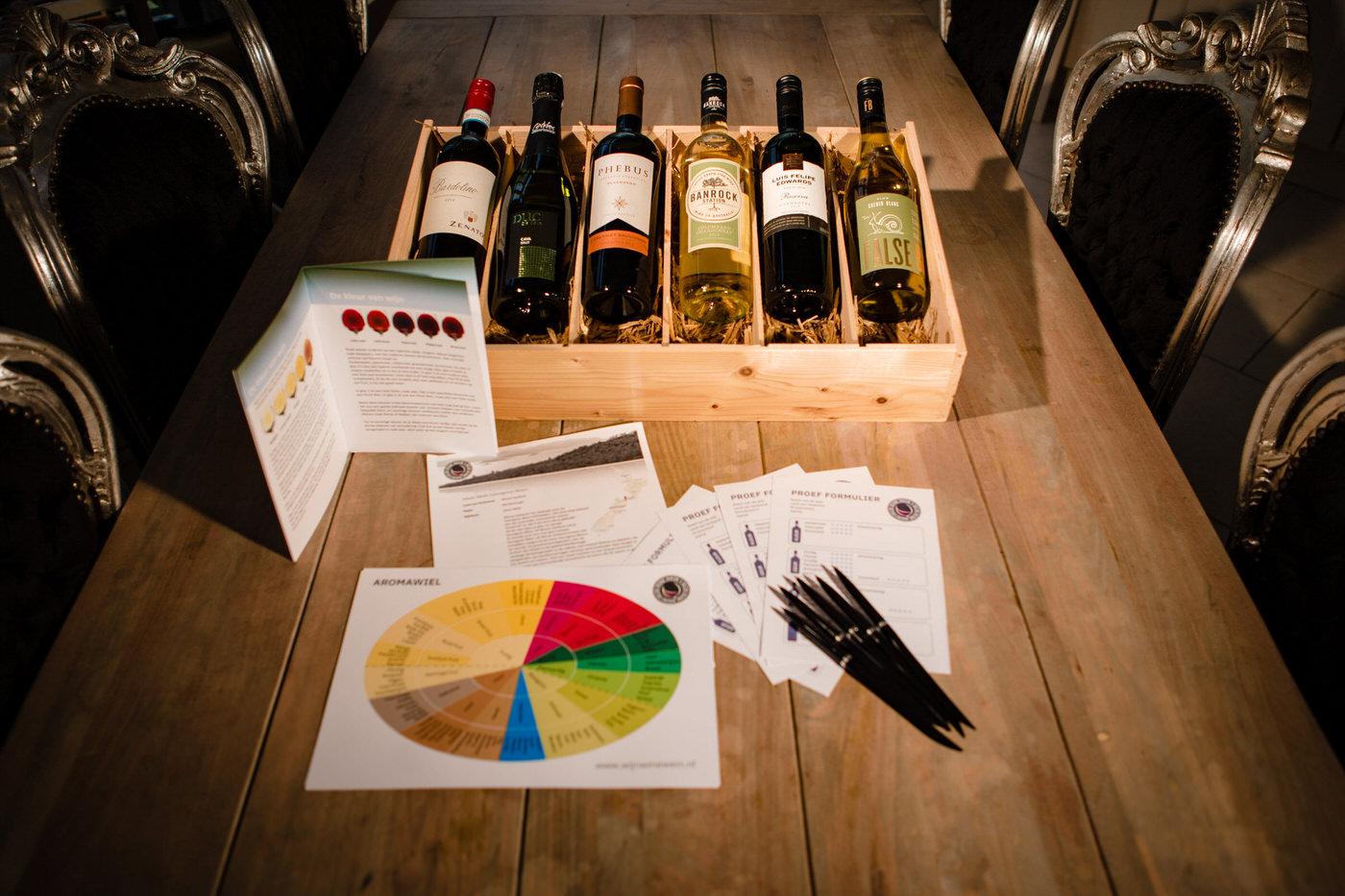 Een wijnproeverij pakket! Wat kun je verwachten?
