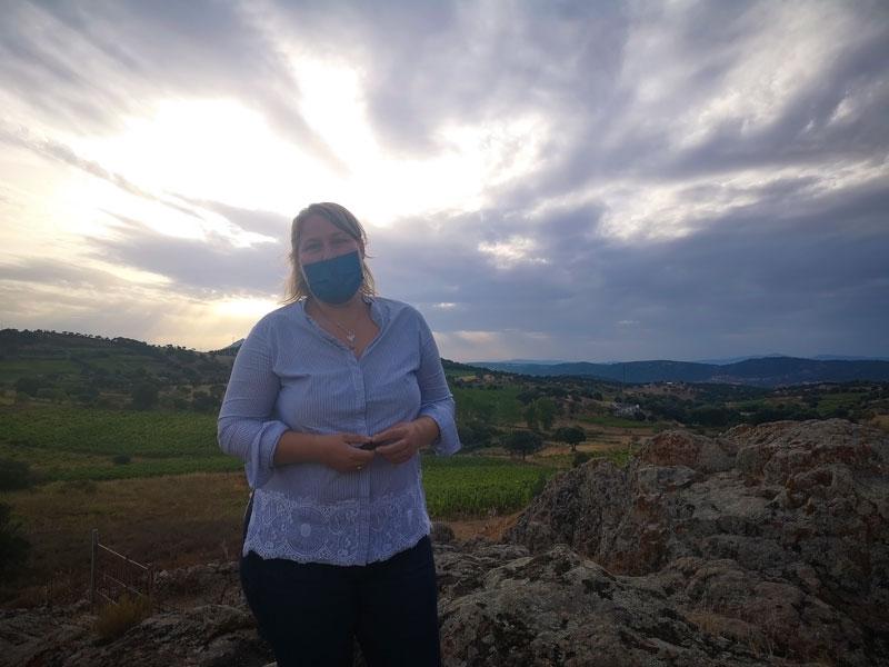 Rondleiding wijngaarden met Janny