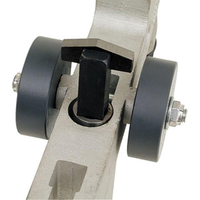 Das Anfasmesser kann optional eingesetzt werden, um die Montage der Schweissmuffen zu erleichtern.