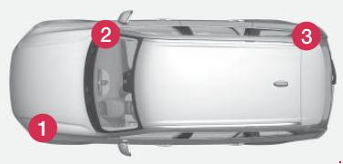 the location of the current distribution boxes in the car with left-hand  drive  in a right-hand drive car, the distribution box under the glove  compartment
