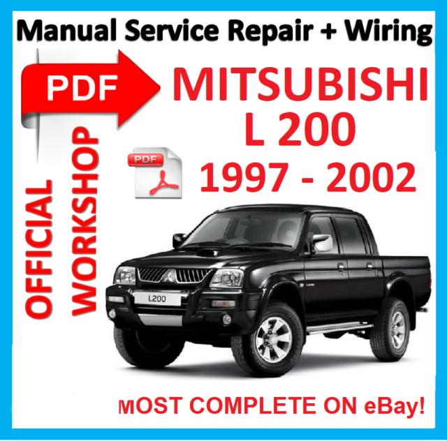 Mitsubishi L200 Service & Repair manuals - 4car-manual