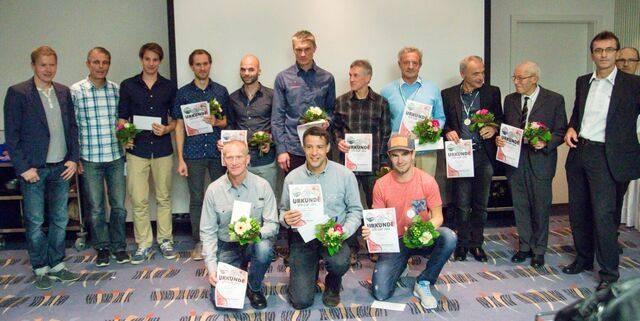 Siegerfoto der erfolgreichsten Sächsischen Triathleten.
