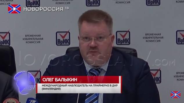 """v.l.n.r.:Johan Bäckman, von Novorossiya-TV als """"Oleg Balykin, internationaler Beobachter aus Finnland"""