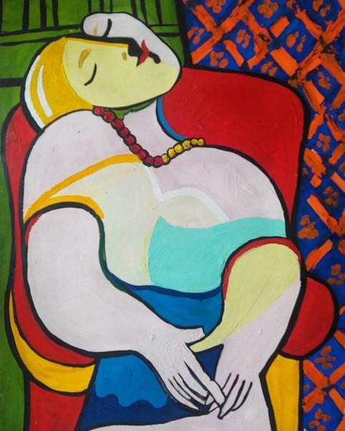 """Вольная копия картины Пабло Пикассо """"Сон"""""""