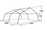 Unterkunftszelt - 404 G, ca. Abmessungen