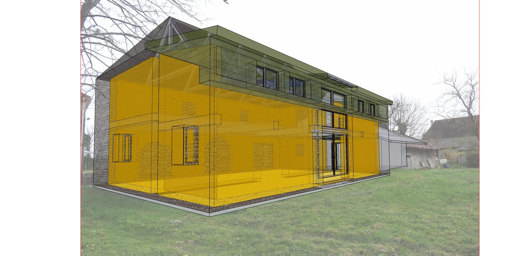 projection graphique projet rénovation