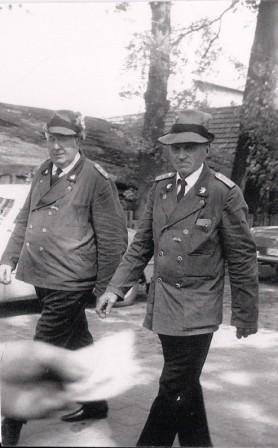 Jahr unbekannt, Otto Barge und Heinrich Kamradt