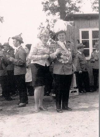 1970 König Dieter und Gerda Hesebeck