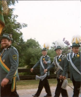 1992 v.l. Frank Borchert,Herrmann Stalbock,Dieter Stahlbock,Gerhard Puhst