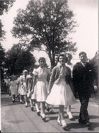 1956 Kinderkönige Adelheit Schulze und Ernst Schulze