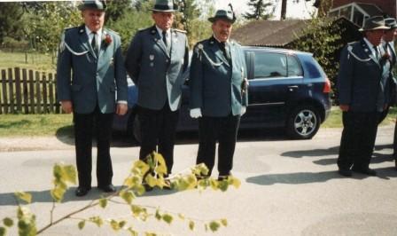 2005 Abholen des Vorjahreskönigs Jens Hesebeck