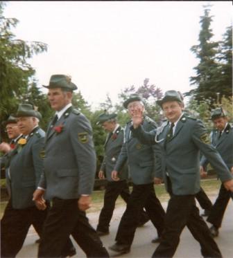 1992 v.l. Ernst Muchow,Adi Stahlbock,Heinrich Möhring,Hans-August Maatsch,Hermann Schulz,Dieter Burmeister