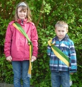 Kinderkönige 2012 - Marie Siemke und Till Hanke