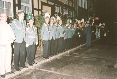 1986 Zapfenstreich Dannenberg Willi Griebke und Dieter Hesebeck