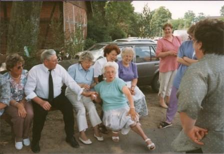 1993 v.l. Rita Ritter,Walter Jirjahn,Akki Schulz,Melitta Dibbert,Heidi Lüder,Giesela Jirjahn