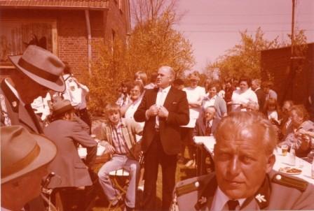 1980 Bürgermeister Hermann Predöhl beim König Gerhard Külbs