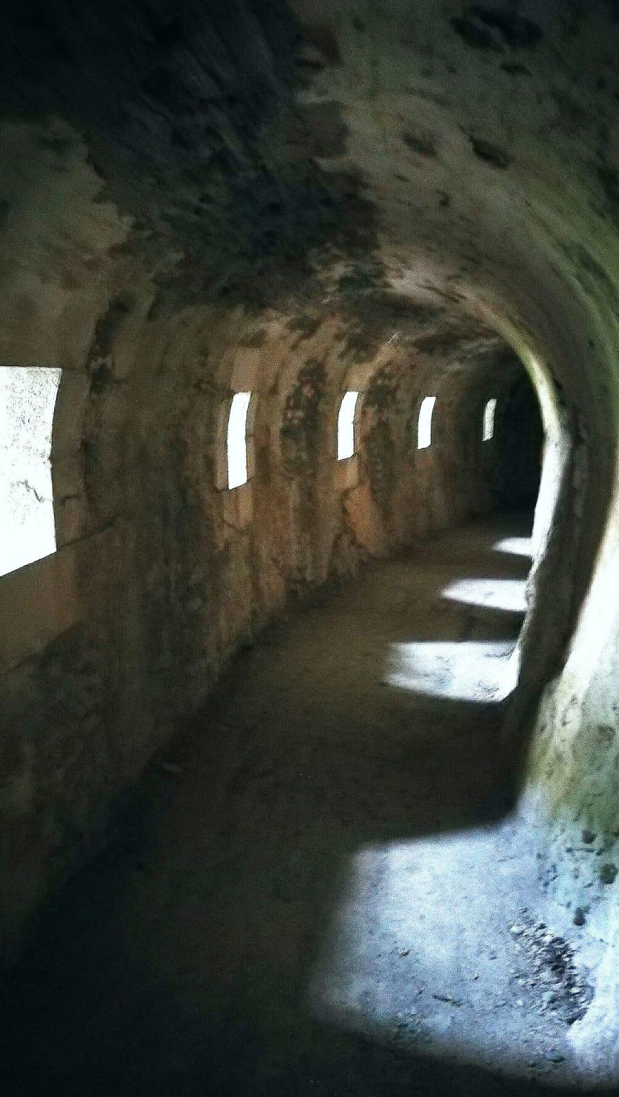 Couloir dans le Fort du Portalet