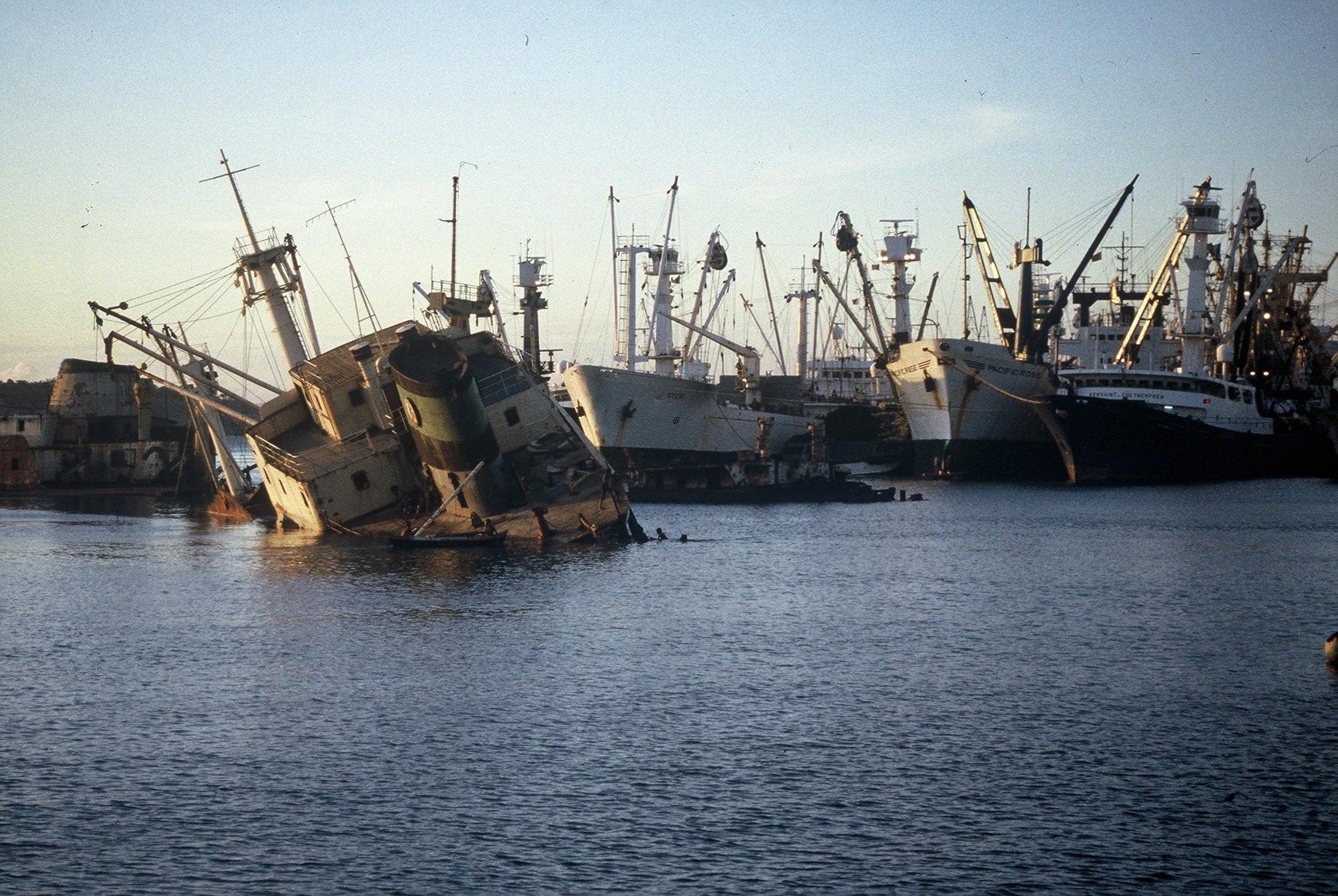 Depuis tant d'années...ce navire échoué à Diégo-Suarez