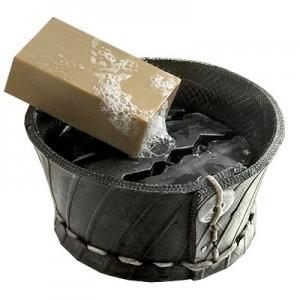 Porte savon en pneu recyclé