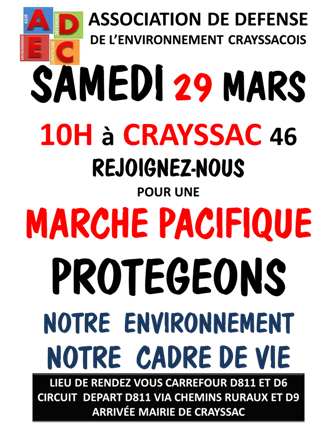 Marche à Crayssac du 29 mars 2014